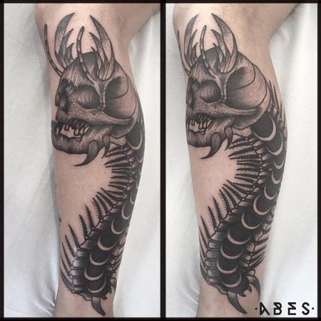 Tattoos - scolopendra skull - 119877
