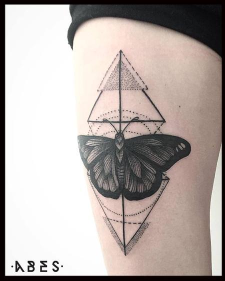 Tattoos - geo butterfly - 119887