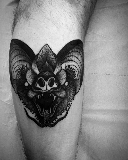 Tattoos - bat leg - 127124