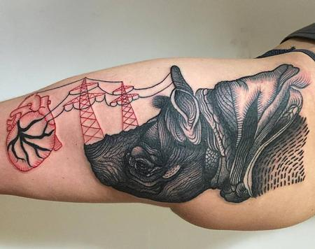 Tattoos - eletric rhino - 127128