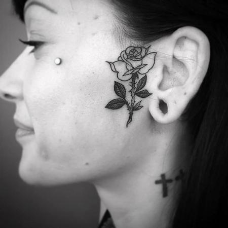 Tattoos - rose face - 127129