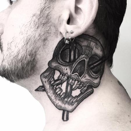 Tattoos - pencil skull - 130714
