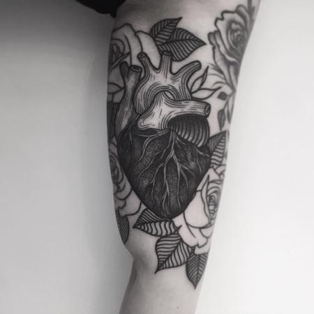 Tattoos - heart in progress - 128009
