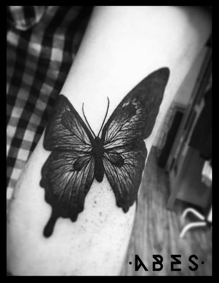 Tattoos - BLACK BUTTERFLY - 119807