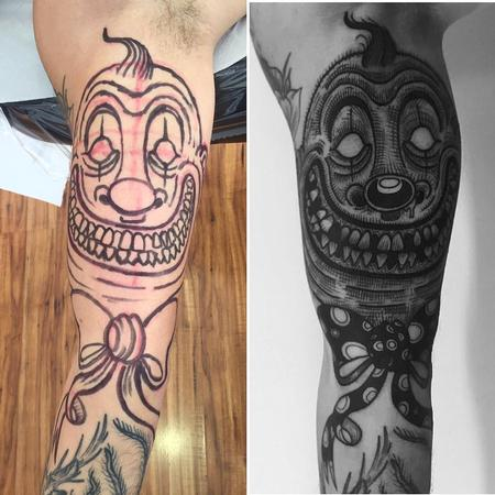 Tattoos - freehand clown - 130733