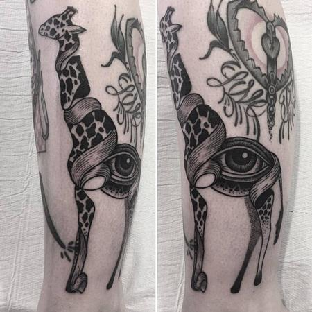 Tattoos - eye giraffe - 128014