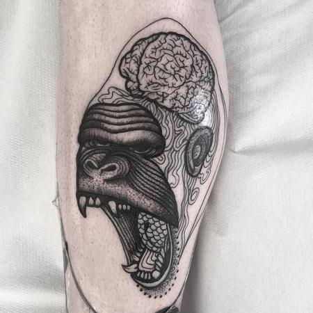Tattoos - gorilla brain - 128015