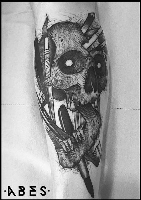 Tattoos - DRAW SKULL - 119821