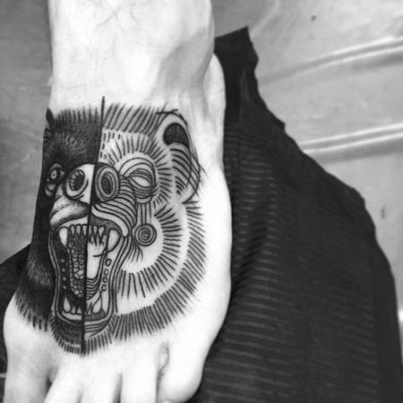 Tattoos - bear foot - 128022