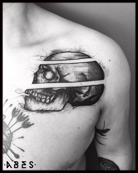 Tattoos - three skull - 119850