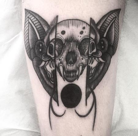 Tattoos - bat skull - 128024