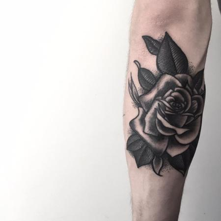 Tattoos - rose - 128028