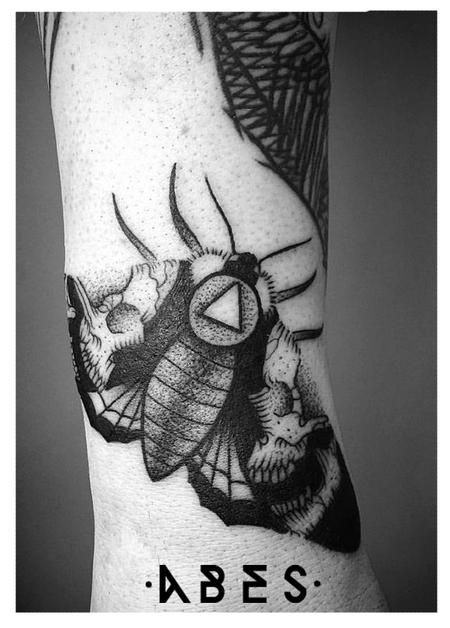 Tattoos - moth skull - 119858
