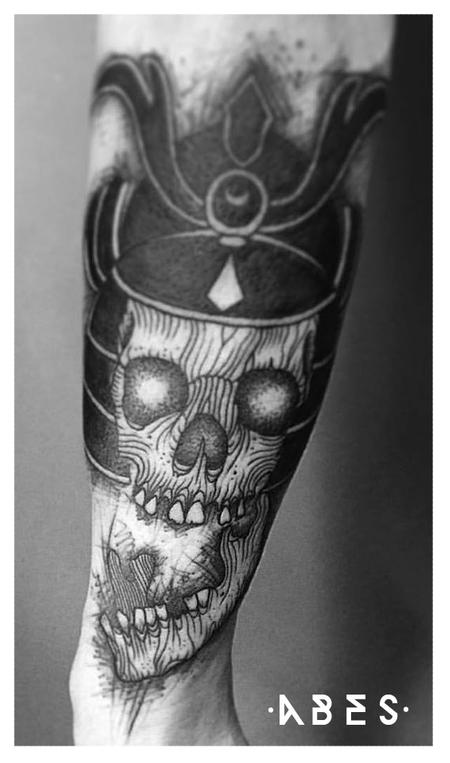 Tattoos - samurai skull - 119859