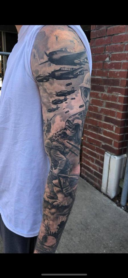 Tattoos - World War 2 Sleeve - 141427