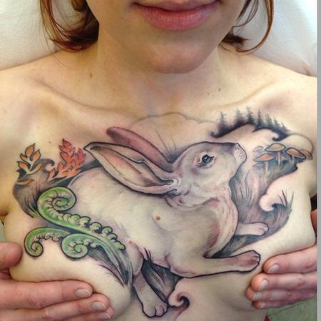 Tattoos - Bunny Chest Piece - 109278
