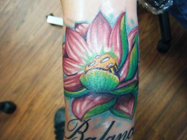 Chich - Lotus flower tattoo