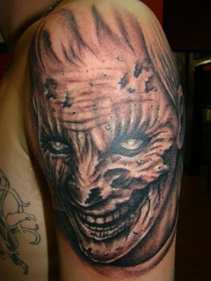 Tattoos - Zombie Face Tattoo - 51767