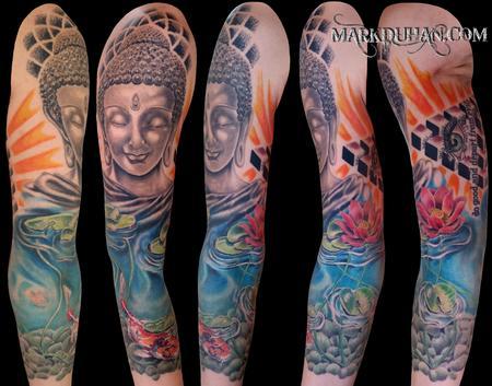 Tattoos - BUDDHIST 3/4 SLEEVE - 92162