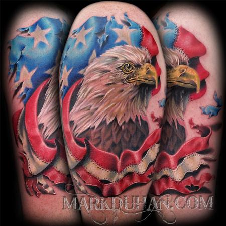 Mark Duhan - EAGLE AND AMERICAN FLAG