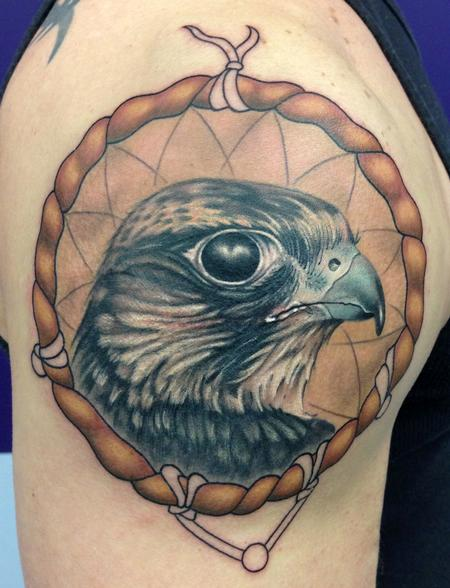 Tattoos - FALCON DREAMCACTHER - 75129