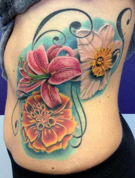 Tattoos - RIB FLOWERS - 75128