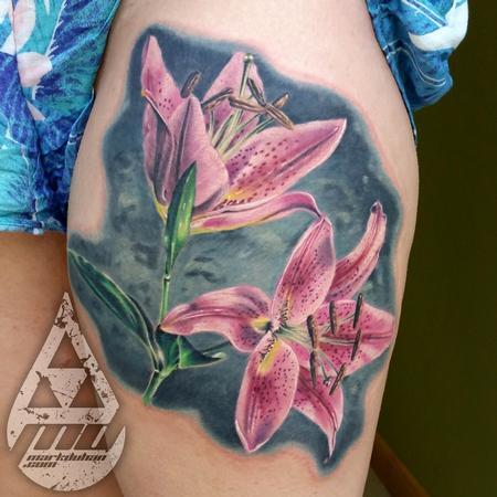 Tattoos - TIGER LILIES - 110154