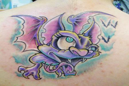 Tattoos - Cartoon Bat Tattoo - 62849