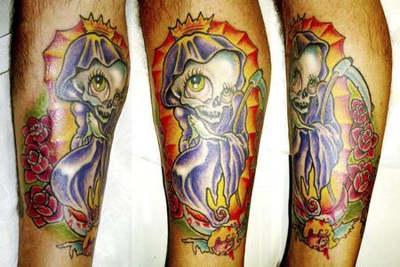 Tattoos - Grim Reaper Tattoo - 62851