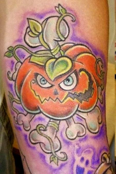 Tattoos - Pumpkin Tattoo - 62852