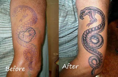 Tattoos - Serpent Tattoo - 62848