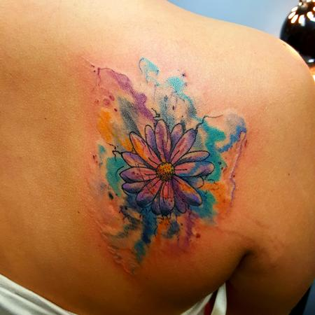 Tattoos - Watercolor Daisy/Flower - 119014