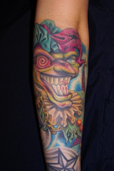 Tattoos - Evil Clown Tattoo - 61760
