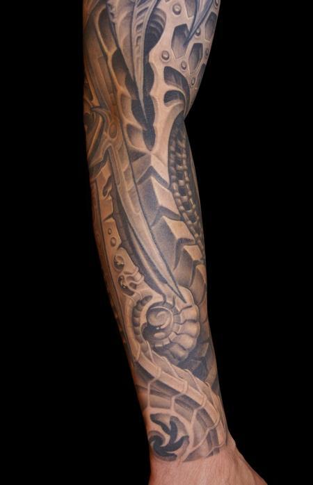 Tattoos - Black and Gray Bio Tattoo - 61761