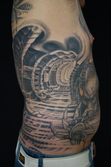Tattoos - Bio mech predator style - 86642