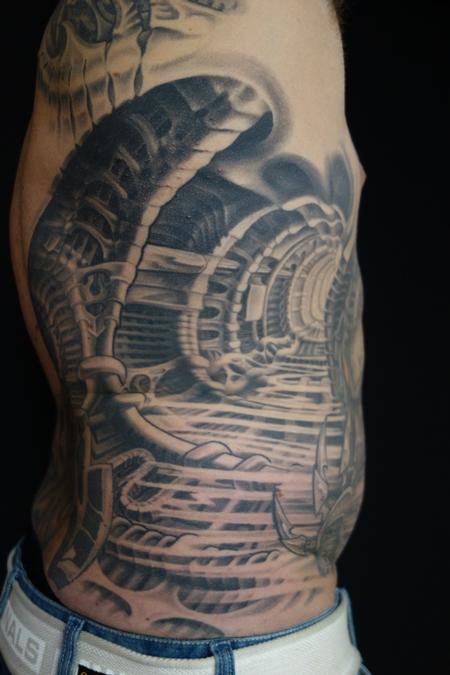 Tattoos - bio mech predator style - 86645