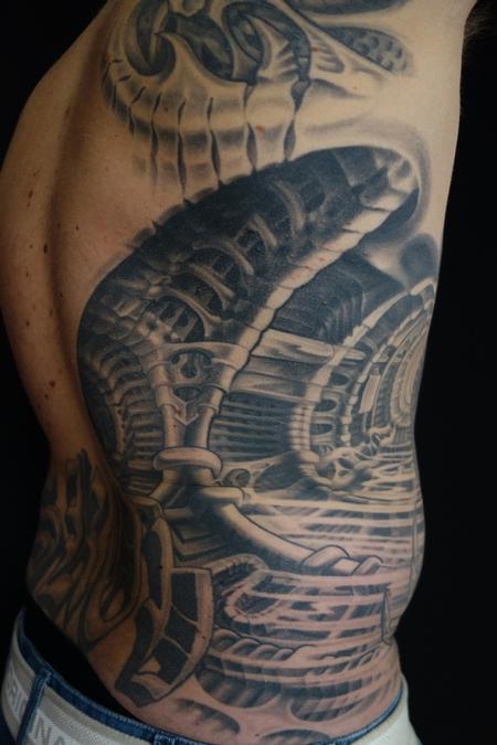 Tattoos - bio mech predator style - 86644