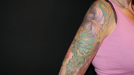 Tattoos - Organic Flower Sleeve - 61764