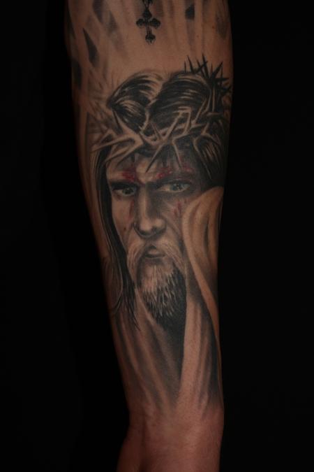 Tattoos - Religious arm in progress - 64954