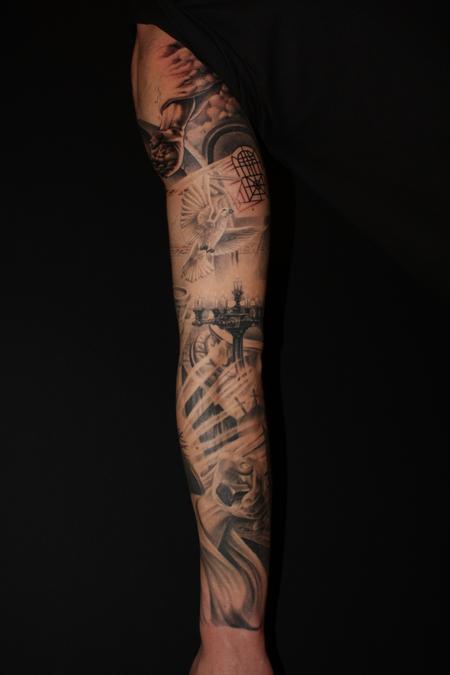 Tattoos - Religious arm in progress - 64952