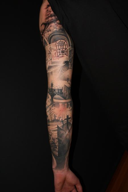 Tattoos - Religious arm in progress - 64951