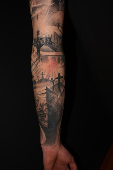 Tattoos - Religious arm in progress - 64950