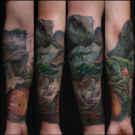 Tattoos - Jurassic Park Sleeve in progress - 98457