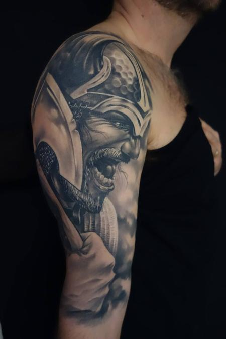 Tattoos - Custom made wiking warrior  - 89006