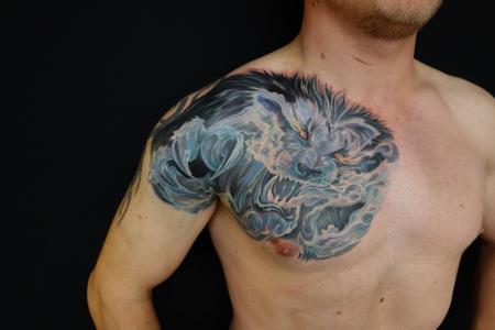 Tattoos - SPIRIT -LION The finished result  - 96190