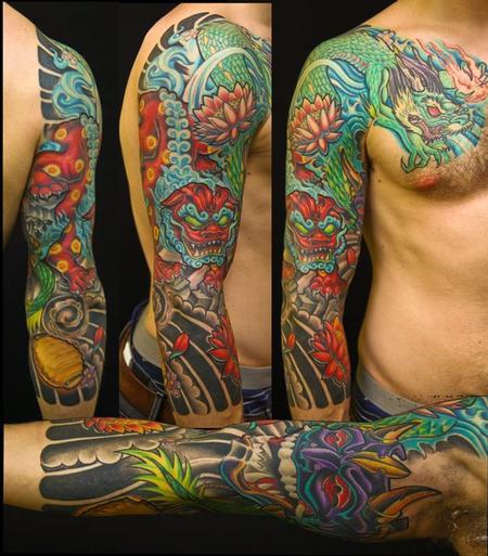 Full Color Sleeve By Tony Ciavarro: TattooNOW