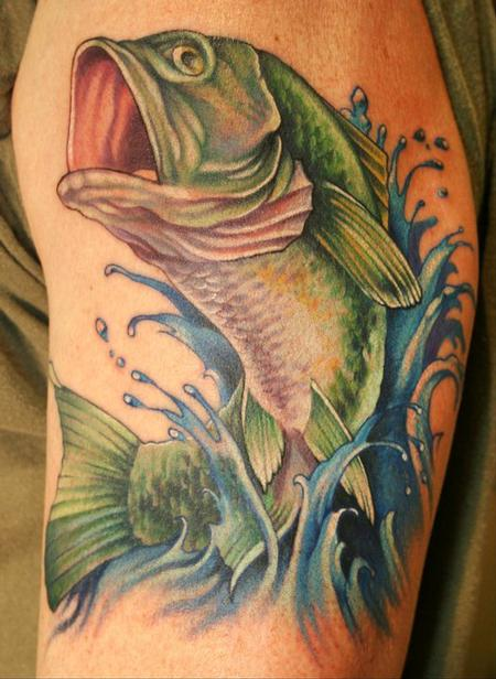 Teresa Sharpe - Bass fish tattoo....