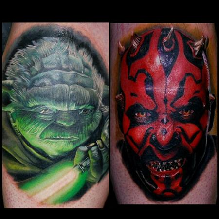 Tattoos - Yoda and darth maul - 116636
