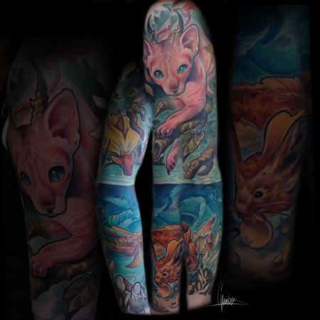 Andy Chambers - Color Sleeve Tattoo