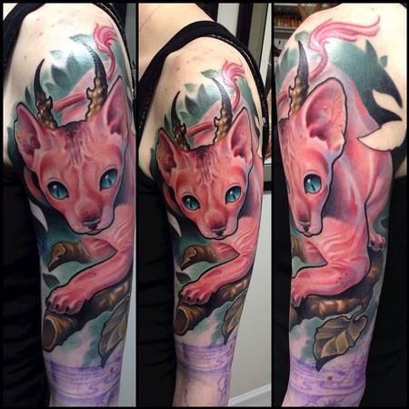 Andy Chambers - Cat Tattoo